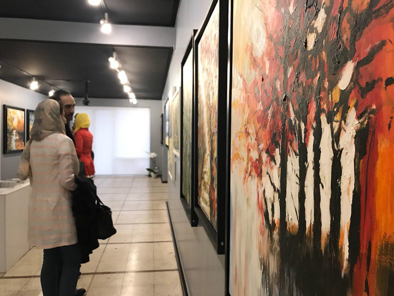 گزارش تصویری نمایشگاه نقاشی های بهروز بلوری