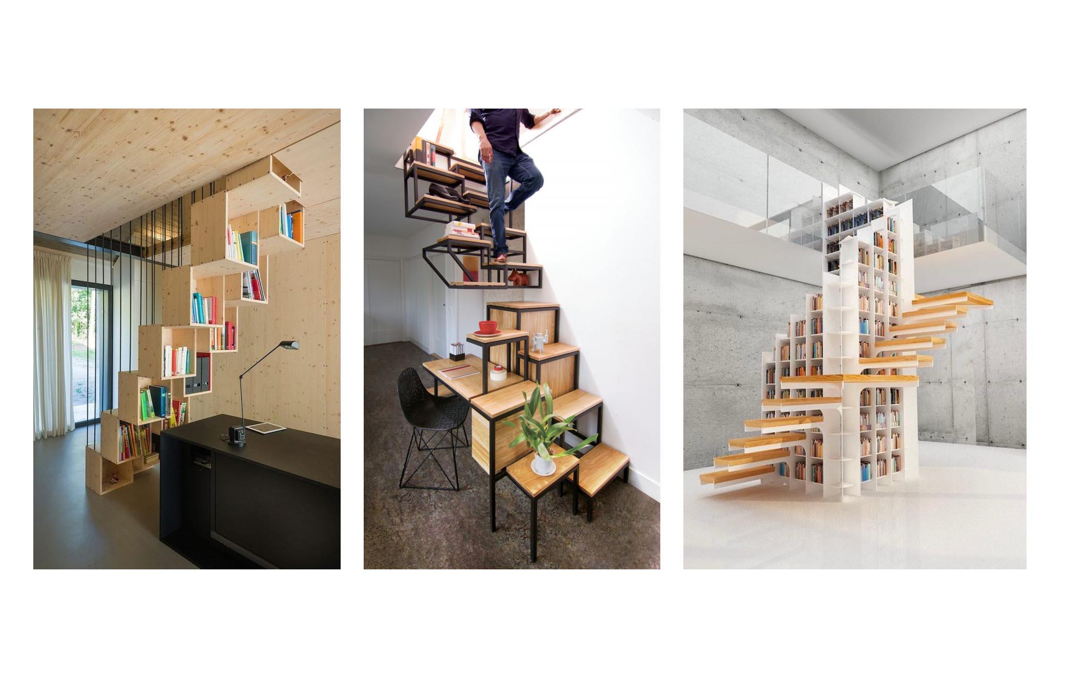 راه هایی خلاقانه برای چیدمان کتاب در داخل و اطراف پله (بخش اول)