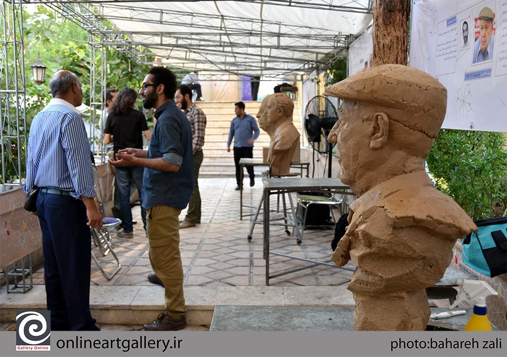 گزارش تصویری دومین سمپوزیوم مجسمه سازی مفاخر ایران در نگارخانه برگ