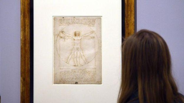 نمایش یک طراحی ۵۰۰ ساله از داوینچی در لوور