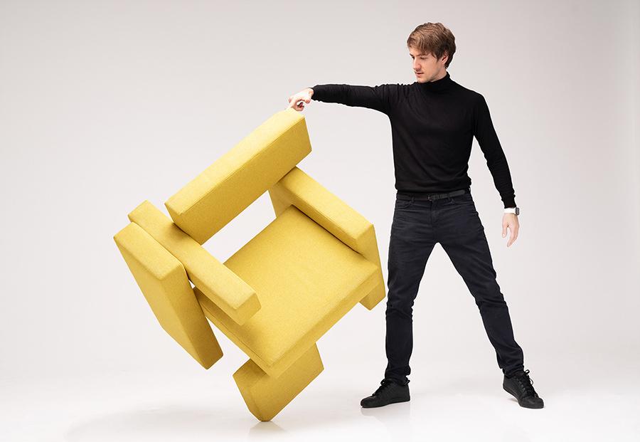 طراحی صندلی خلاق زرد توسط Dmytriy Sivak