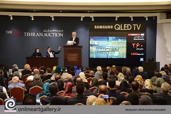 گزارش تصویری اختصاصی گالری آنلاین از دهمین دوره حراج تهران (بخش اول)