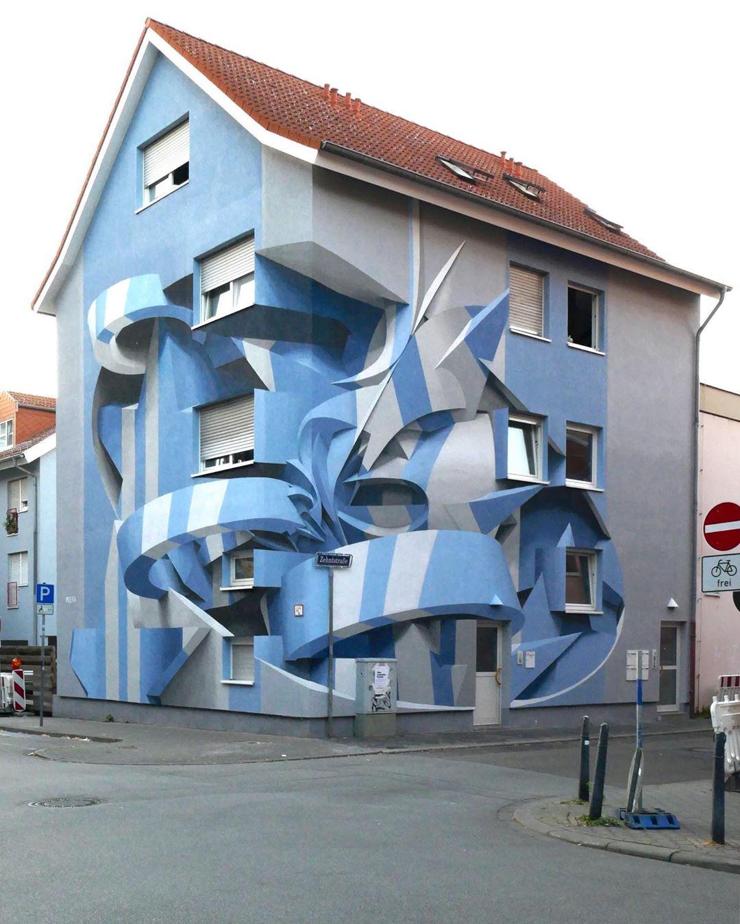 نقاشی های دیواری با خطای دید سه بعدی