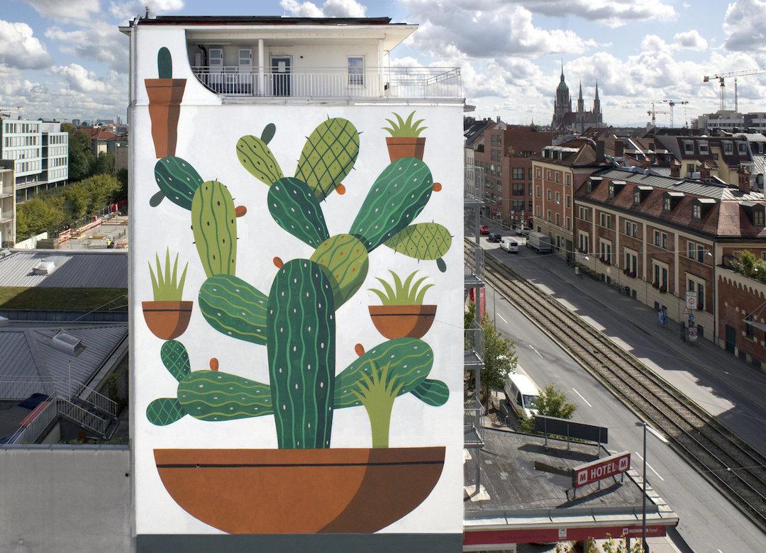 نقاشی دیواری های جسورانه بر دیوارهای شهر