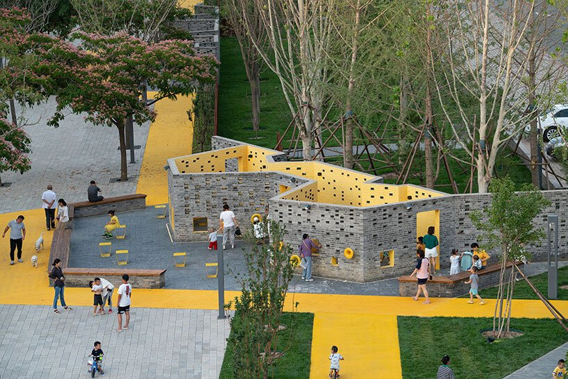 ساخت پارک پر تحرک و پیچ و خم دار songzhuang