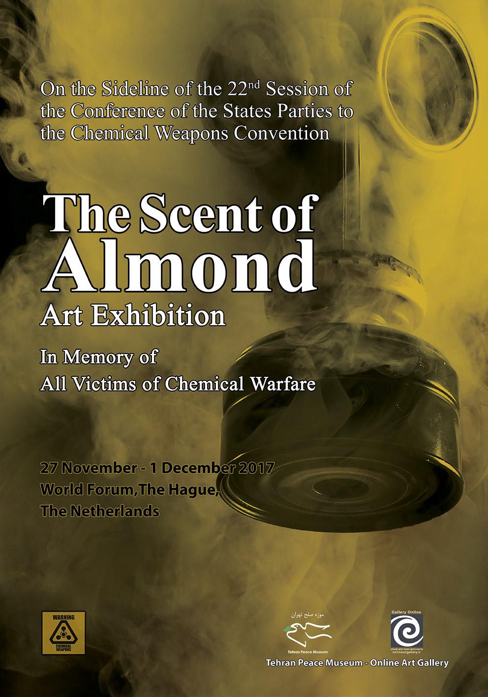 """برگزاری نمایشگاه """"بوی بادام"""" در حاشیه بیست و دومین کنفرانس منع سلاح های شیمیایی در لاهه هلند"""