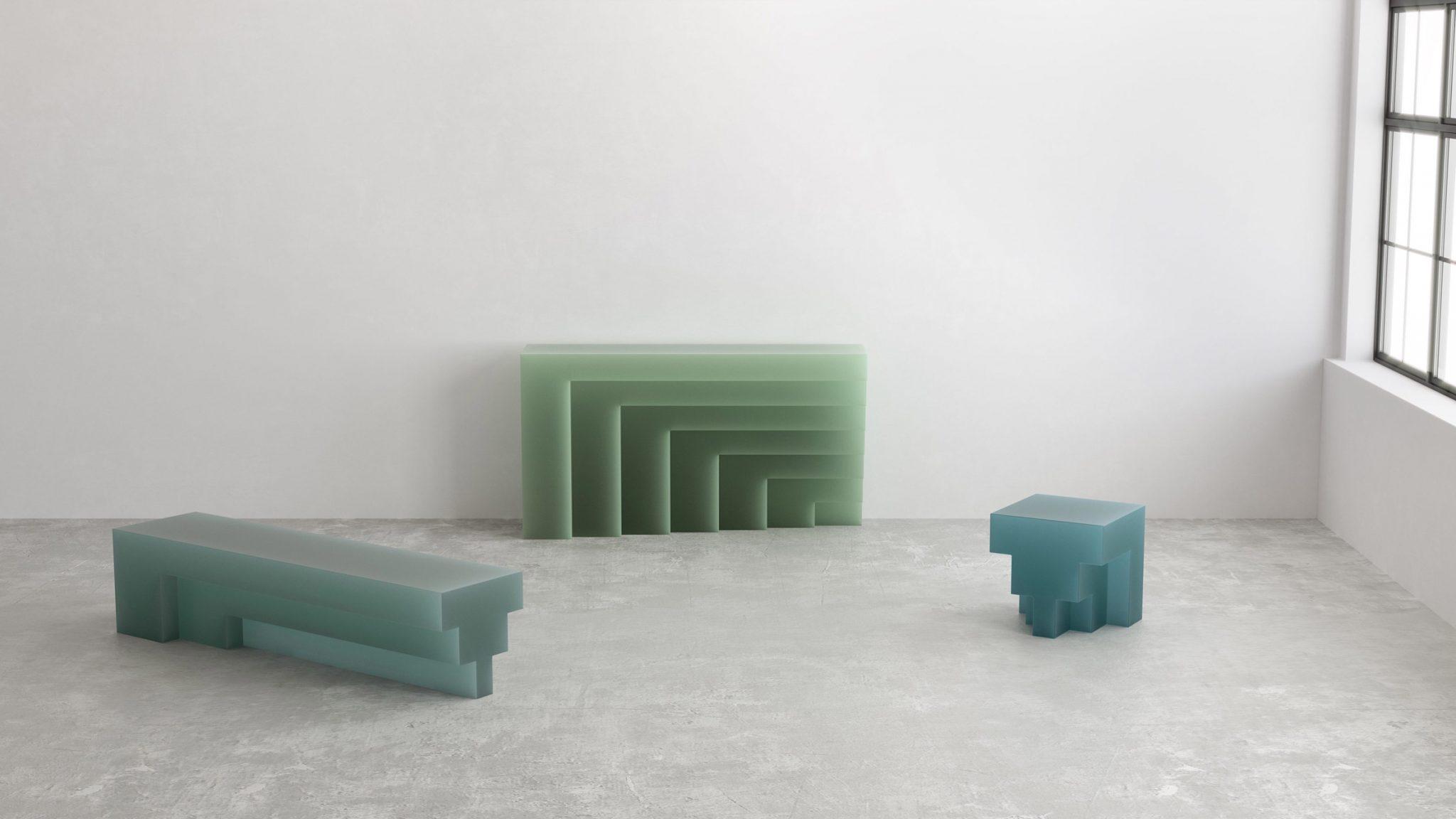 ساخت مبلمان رزین شبیه به قالب های برش خورده صابون