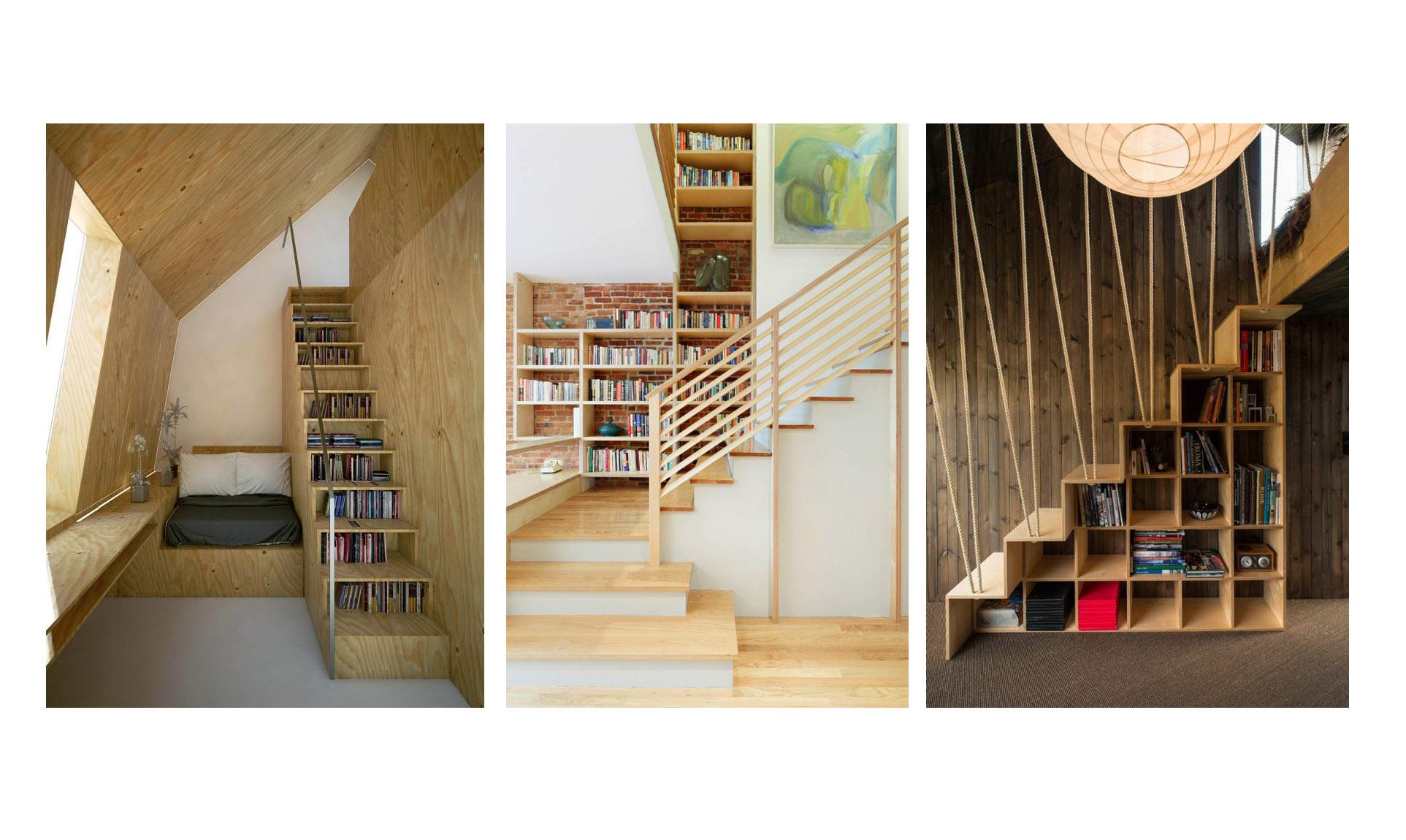 راه هایی خلاقانه برای چیدمان کتاب در داخل و اطراف پله (بخش دوم)