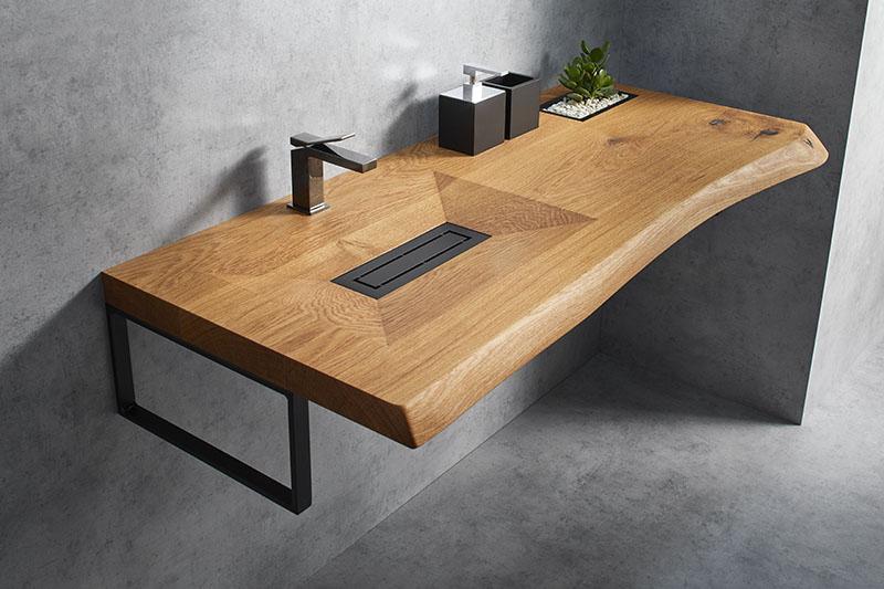 طراحی سینک از جنس چوب